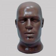 Голова  мужская пластиковая, под заказ
